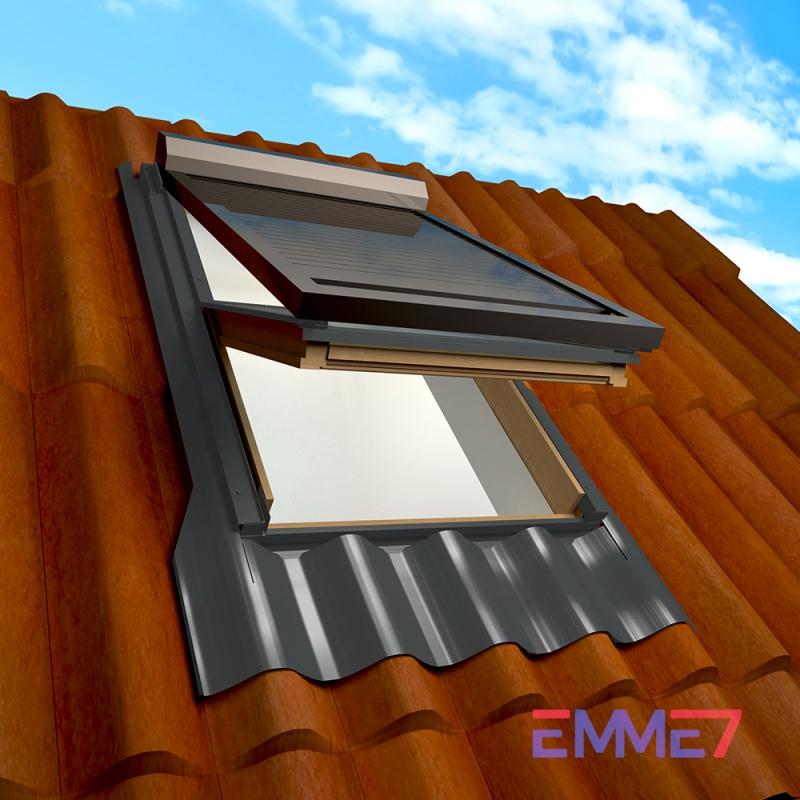 Finestra per tetto a bilico emme 7 for Finestre x tetti