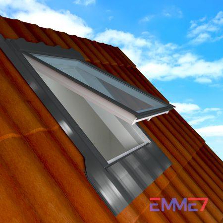Finestra per tetto duplice apertura